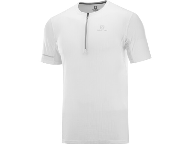 Salomon Agile Graphic T-shirt Herrer, white/lunar rock